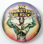 Monsters of Rock - '1987' Large Button Badge